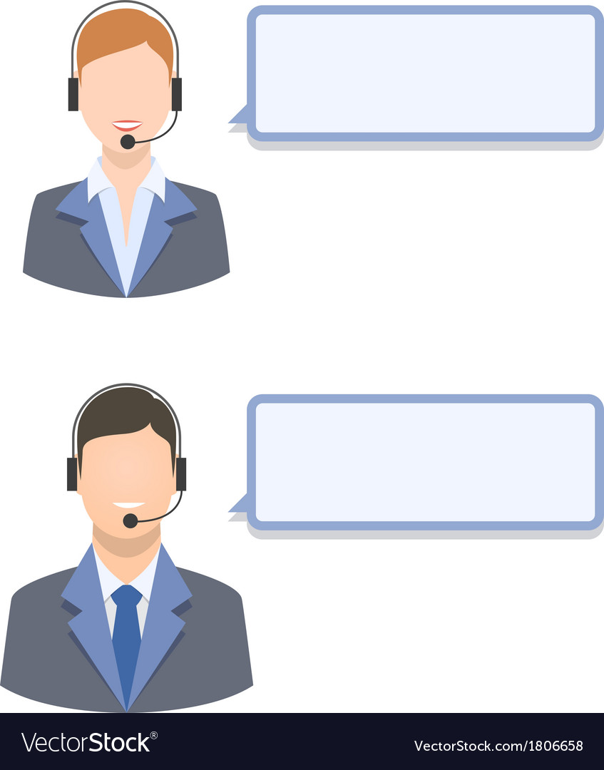 Call center agents vector | Price: 1 Credit (USD $1)
