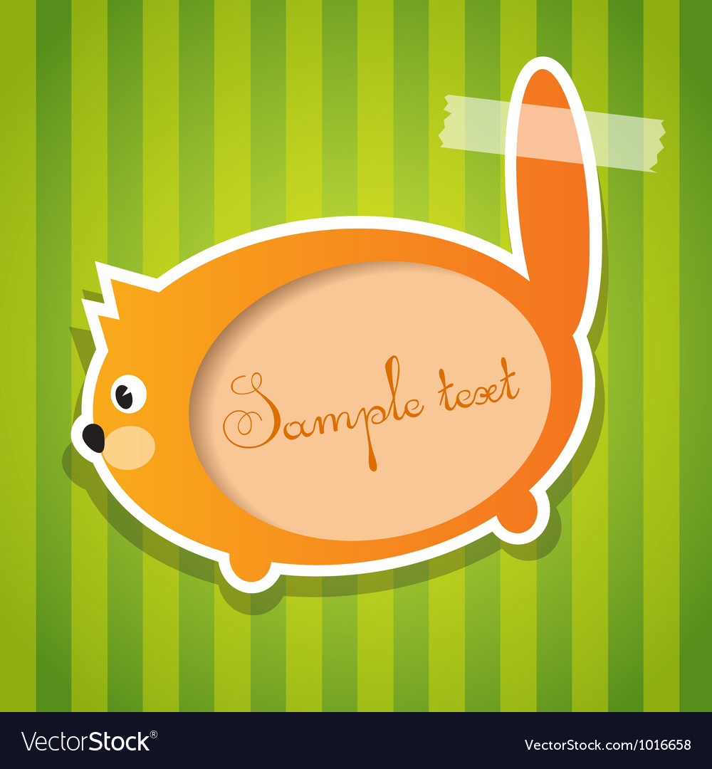 Cat sticker with tape vector | Price: 1 Credit (USD $1)