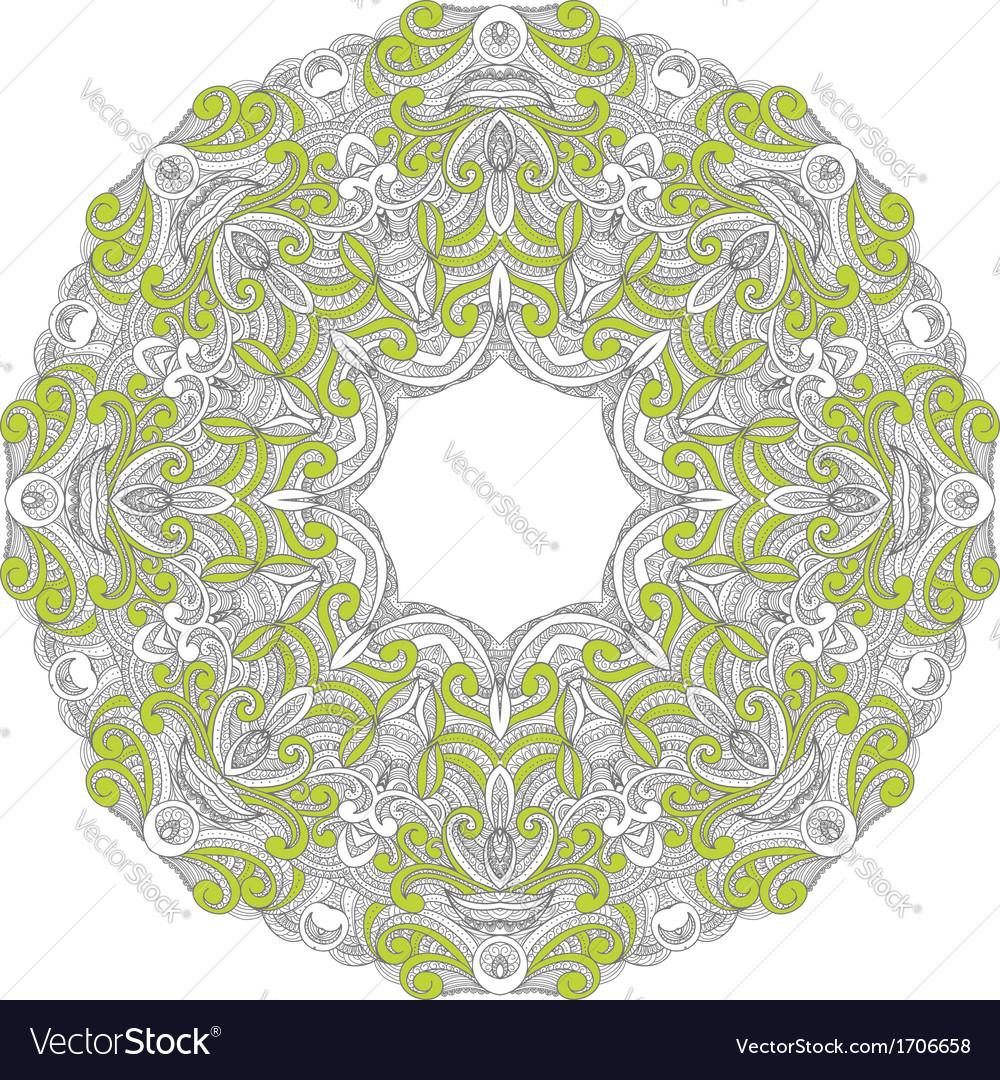 Ornamental round lace patternarabesque designs vector   Price: 1 Credit (USD $1)