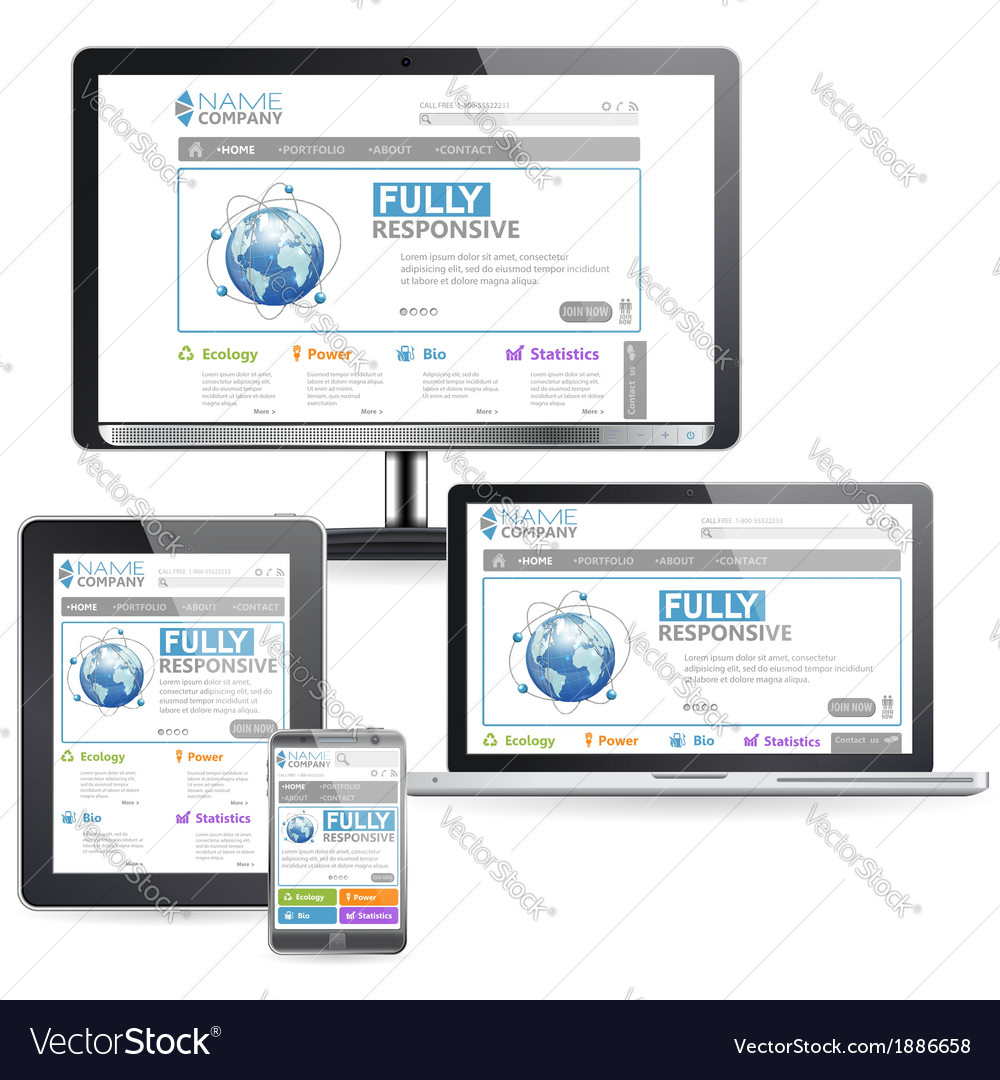 Responsive web design vector | Price: 1 Credit (USD $1)