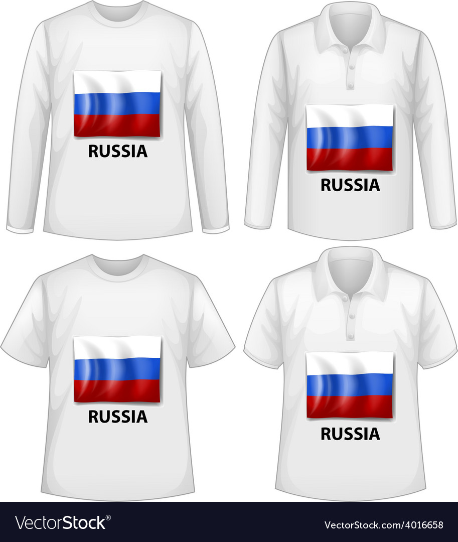 Russia shirt vector | Price: 1 Credit (USD $1)