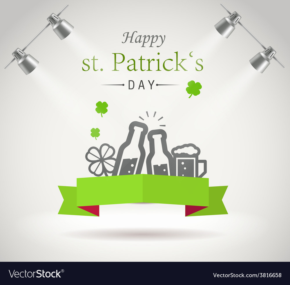 Saint patricks day greeting card vector | Price: 1 Credit (USD $1)