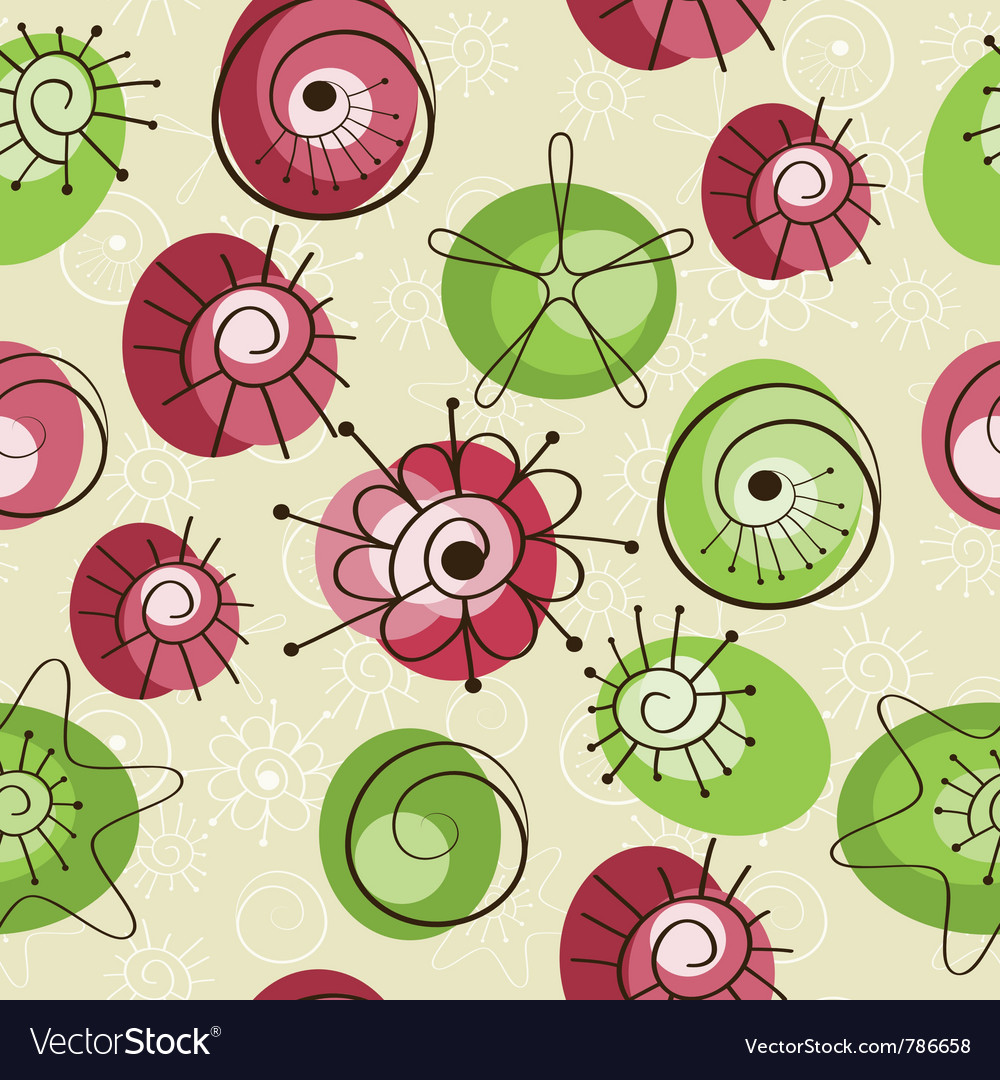 Seamless spring background vector | Price: 1 Credit (USD $1)