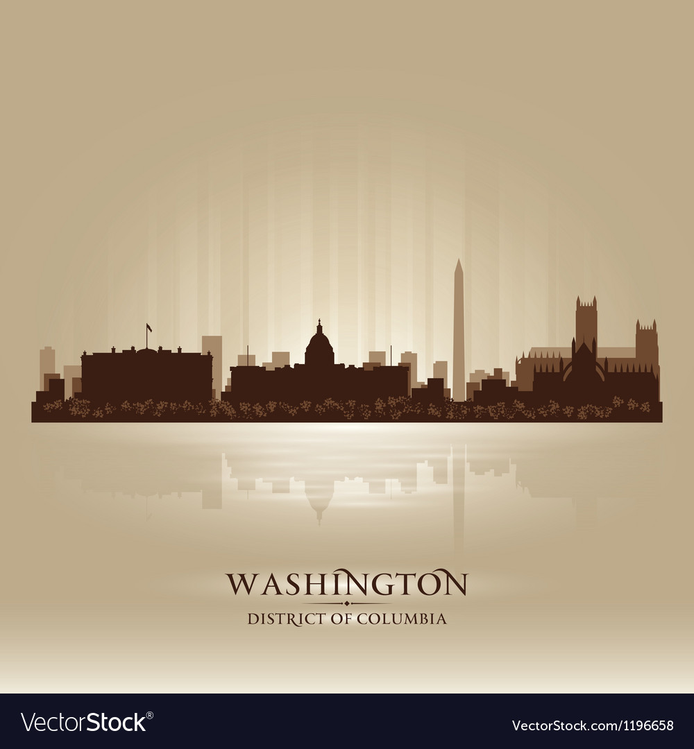 Washington district of columbia skyline city silho vector | Price: 1 Credit (USD $1)