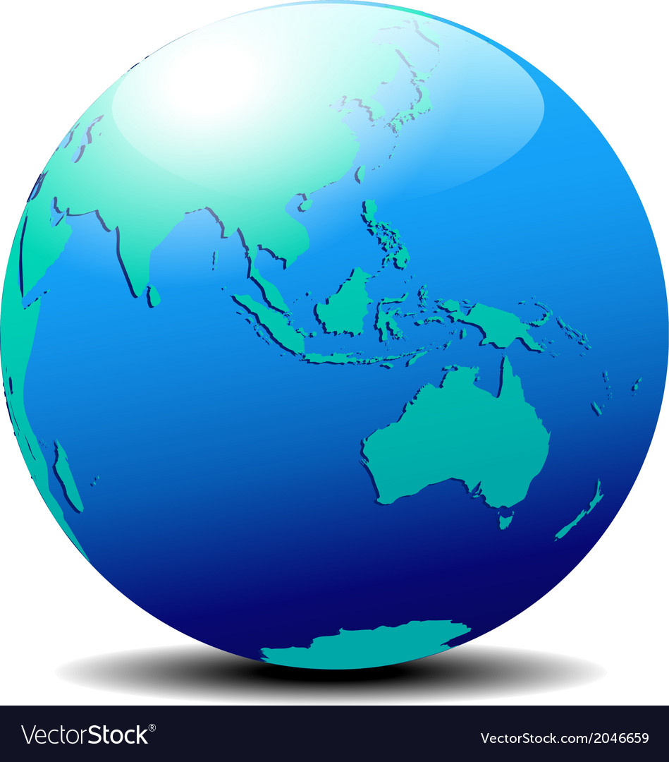 Asia australia far east vector | Price: 1 Credit (USD $1)