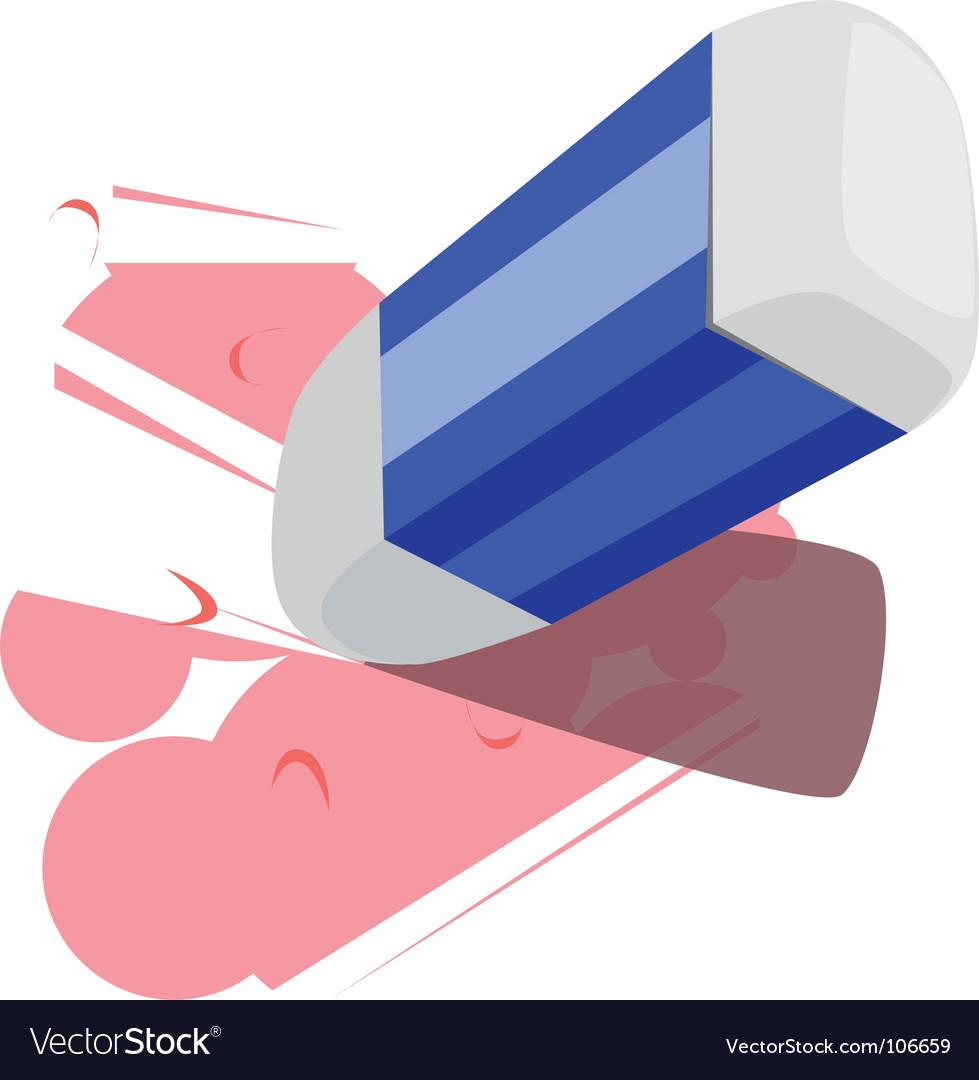 Eraser and pencil vector | Price: 1 Credit (USD $1)