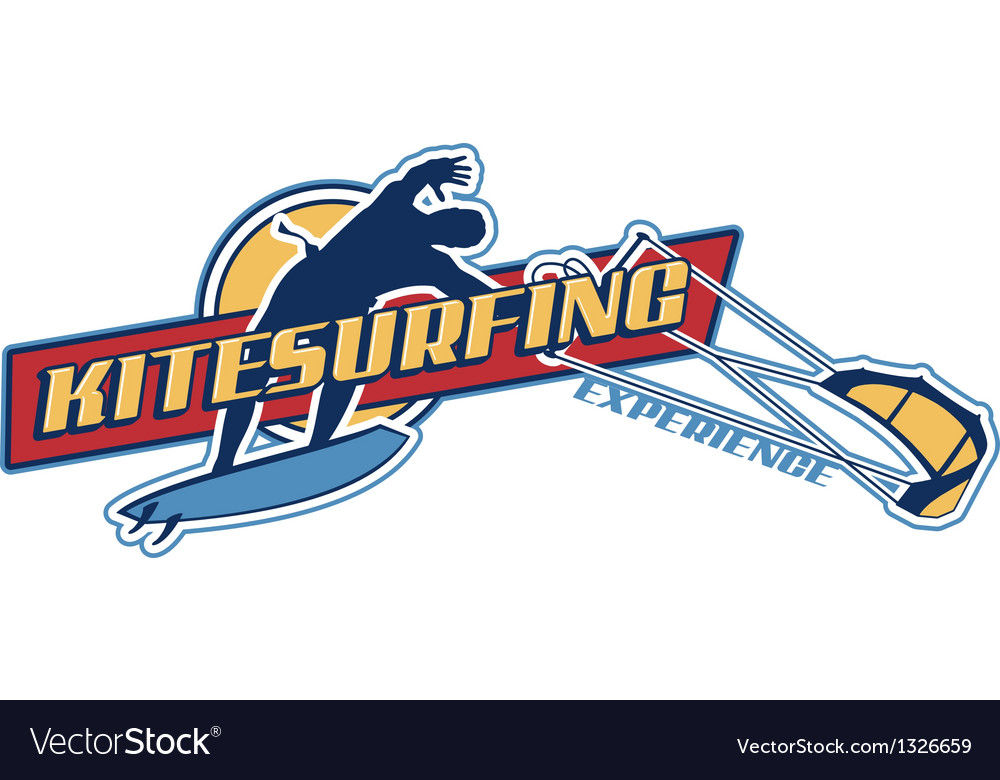 Kite surfing vector | Price: 1 Credit (USD $1)