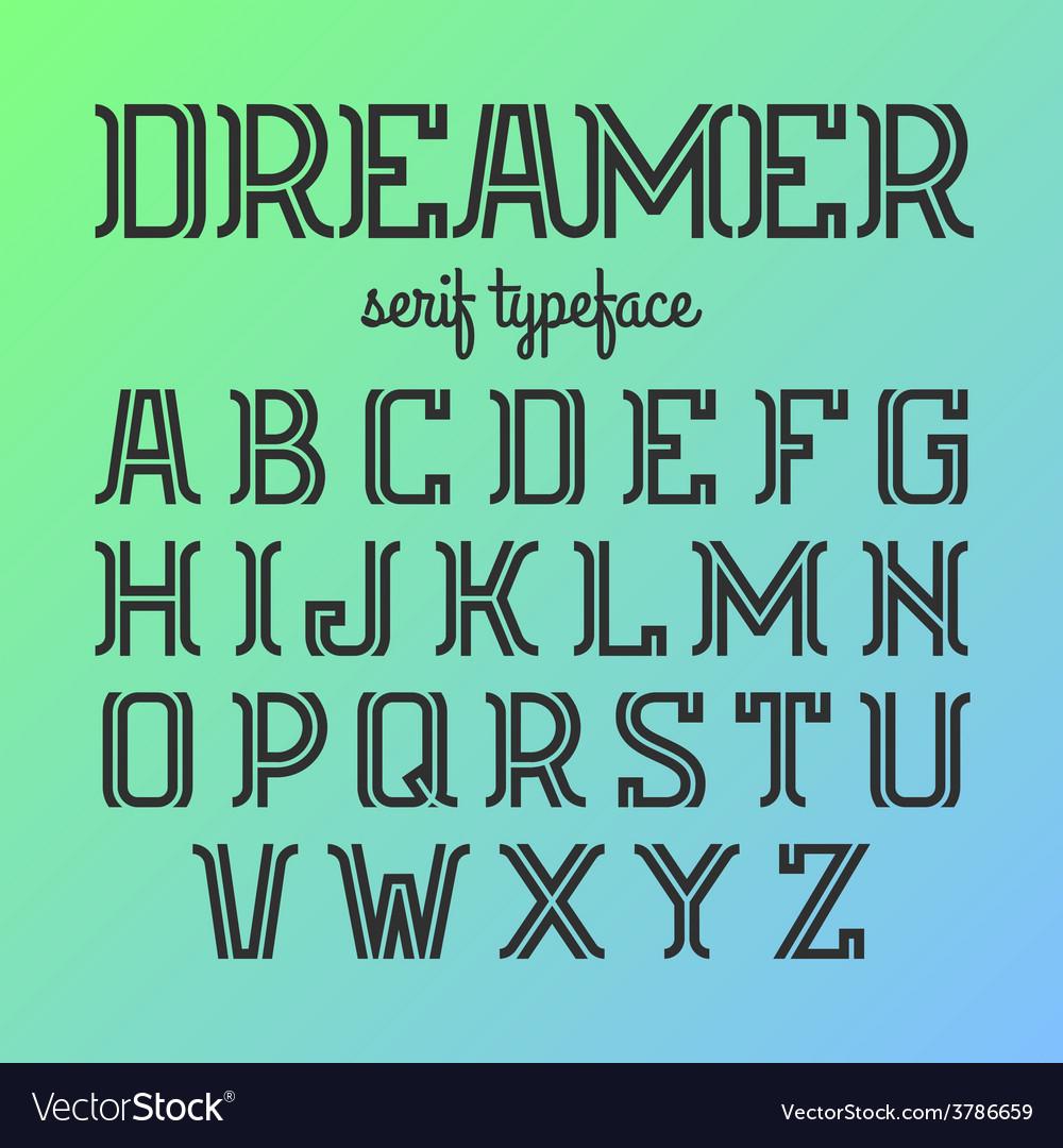 Modern serif typeface vector | Price: 1 Credit (USD $1)