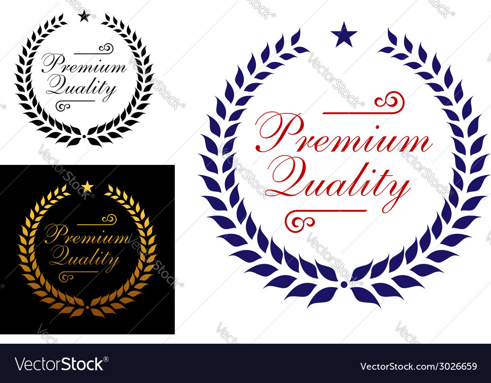 Premium quality laurel wreath logo or emblem vector | Price: 1 Credit (USD $1)
