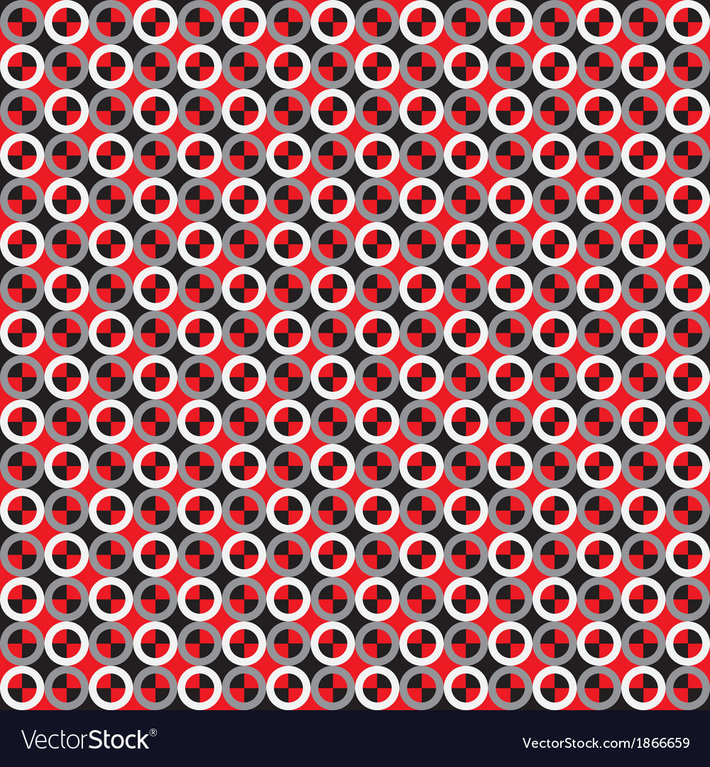 Rings optical seamless pattern vector | Price: 1 Credit (USD $1)