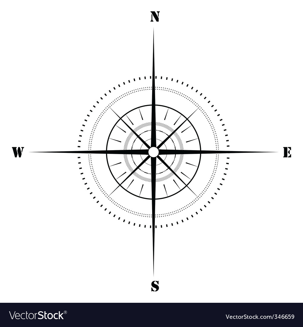 Sketchy compass vector | Price: 1 Credit (USD $1)