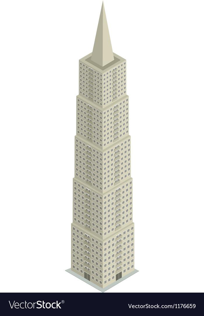 Skyscraper isometric vector   Price: 1 Credit (USD $1)