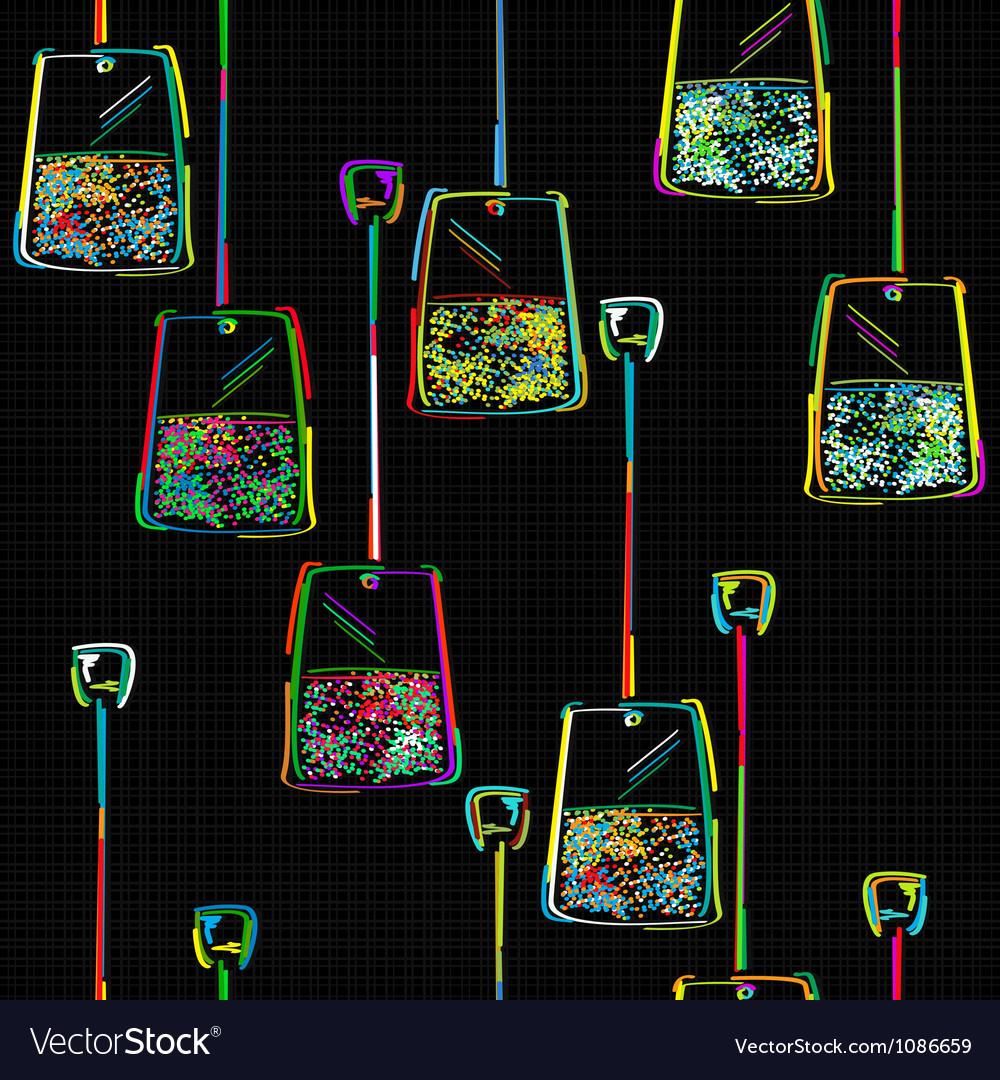 Tea bag pattern vector | Price: 1 Credit (USD $1)