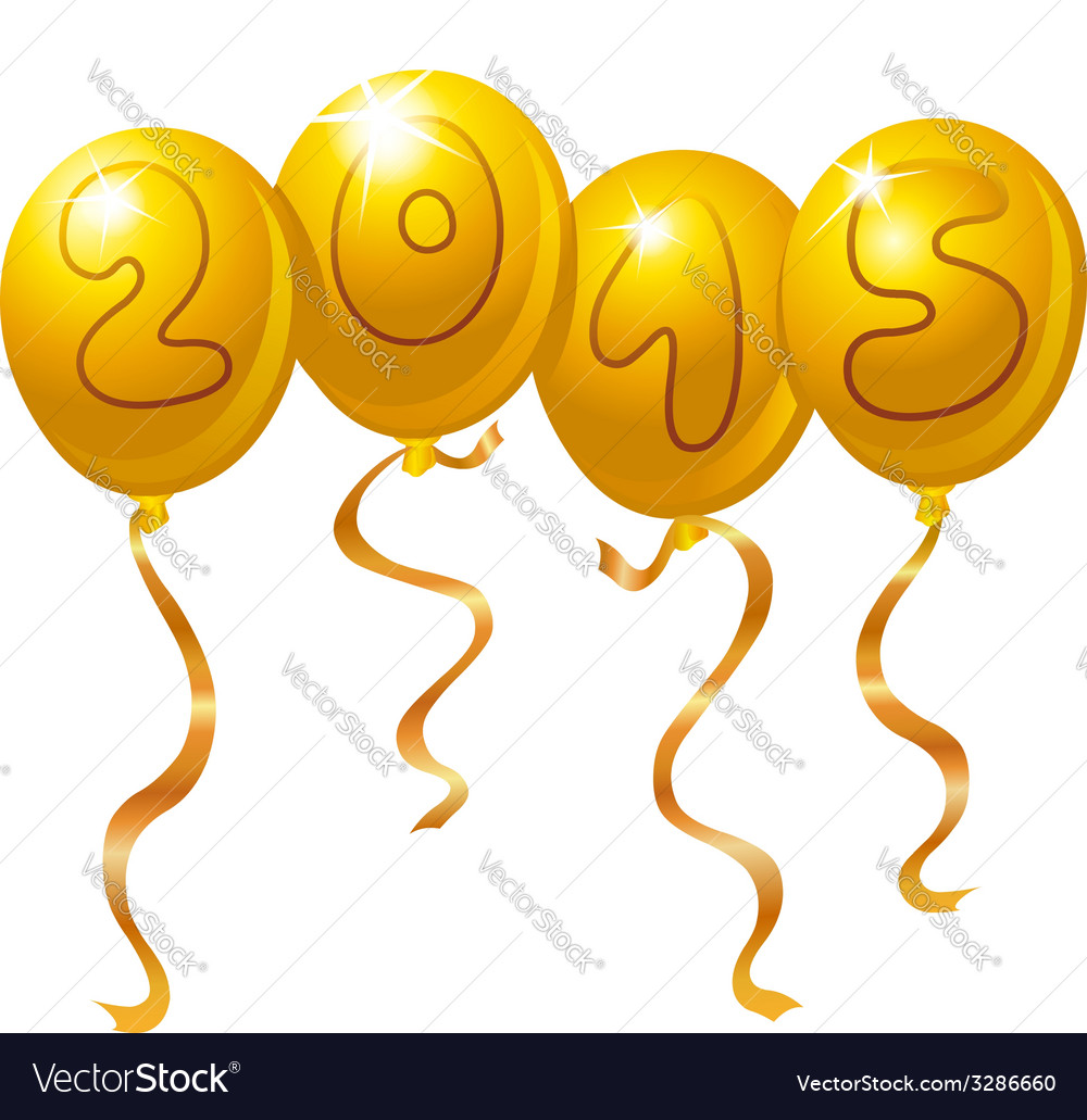 2015 new year balloons vector | Price: 1 Credit (USD $1)