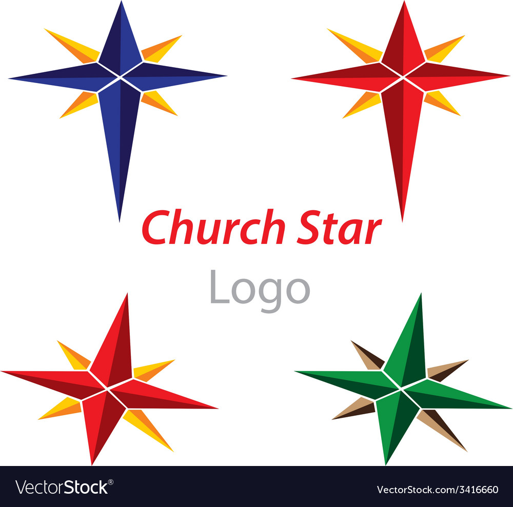 Church star logo vector | Price: 1 Credit (USD $1)