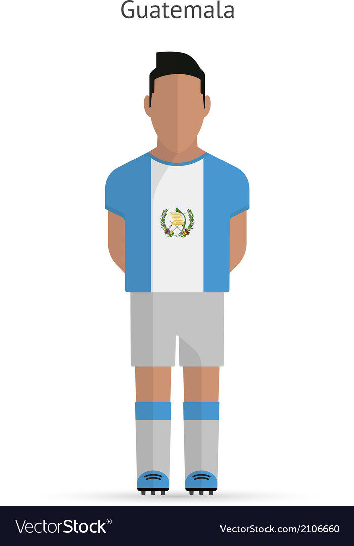 Guatemala football player soccer uniform vector | Price: 1 Credit (USD $1)
