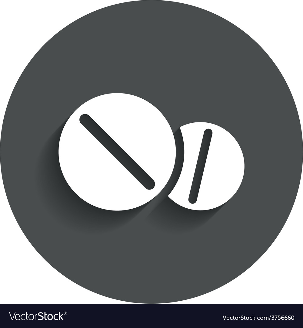 Medical tablets sign icon drugs symbol vector | Price: 1 Credit (USD $1)