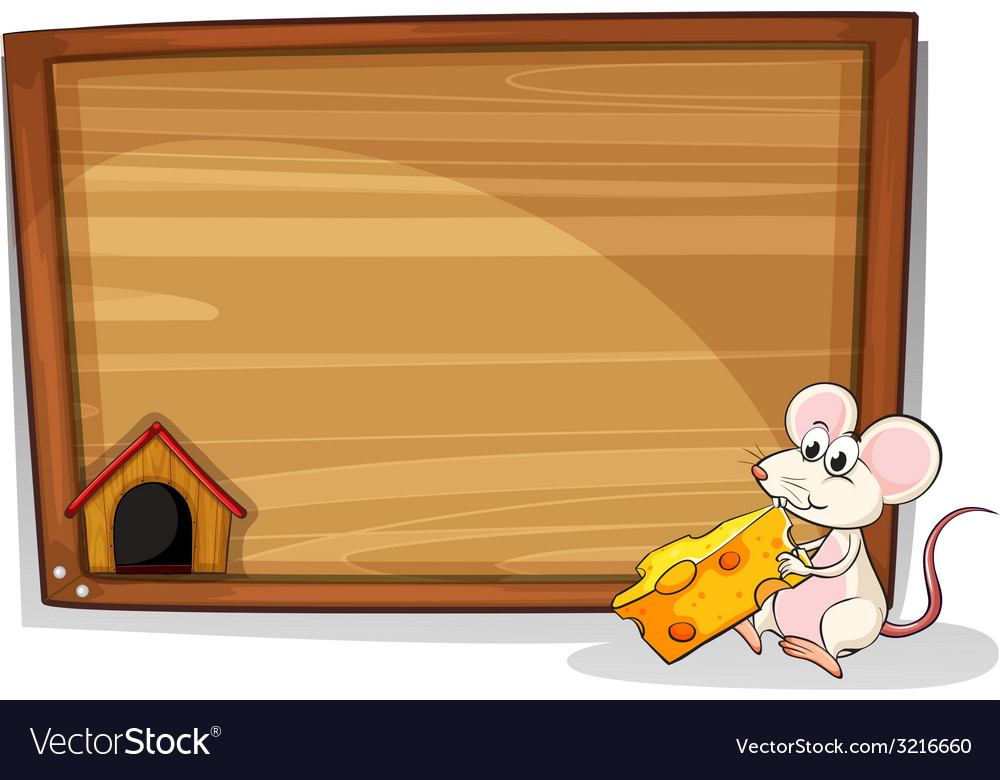 Mouse and cheese vector | Price: 1 Credit (USD $1)