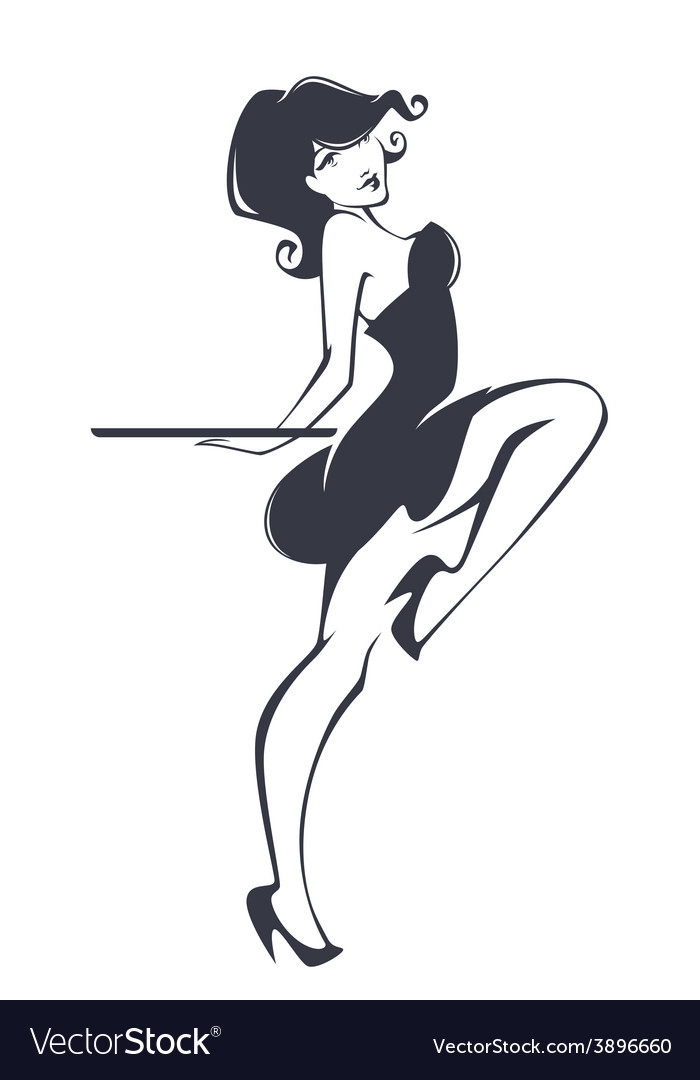 Pinup girl vector | Price: 1 Credit (USD $1)