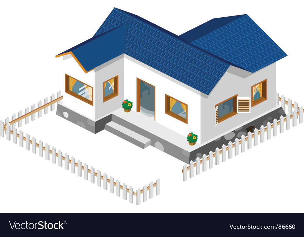 Rich house vector | Price: 1 Credit (USD $1)