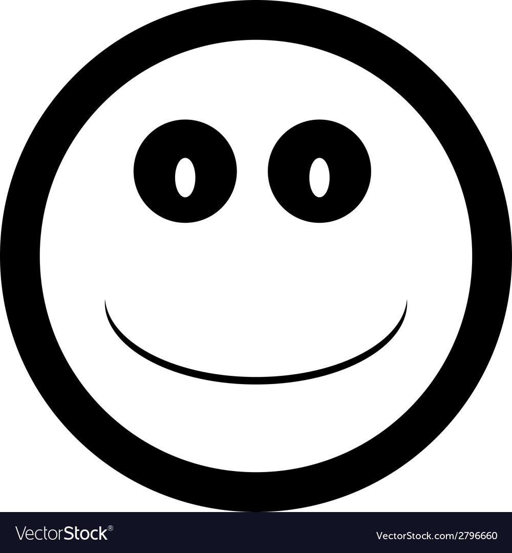 Smile face button vector | Price: 1 Credit (USD $1)