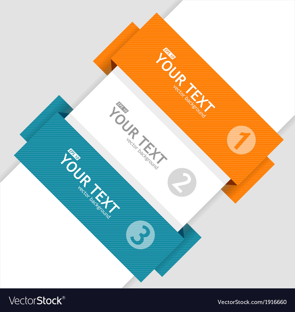 Text boxes infographics options banner vector | Price: 1 Credit (USD $1)