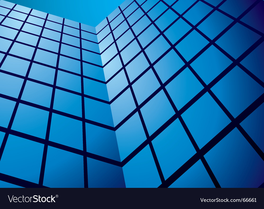 Abstract glass tower block vector | Price: 1 Credit (USD $1)