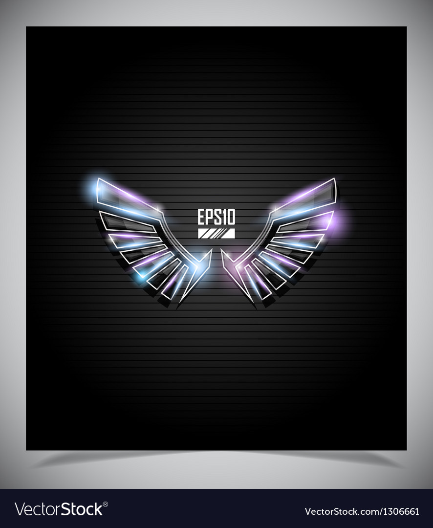 Abstraction dark background with wings vector | Price: 1 Credit (USD $1)