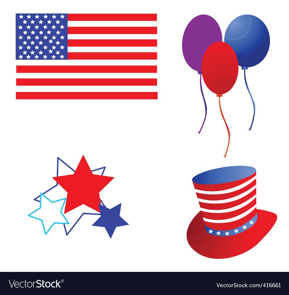 America flag and symbol vector | Price: 1 Credit (USD $1)