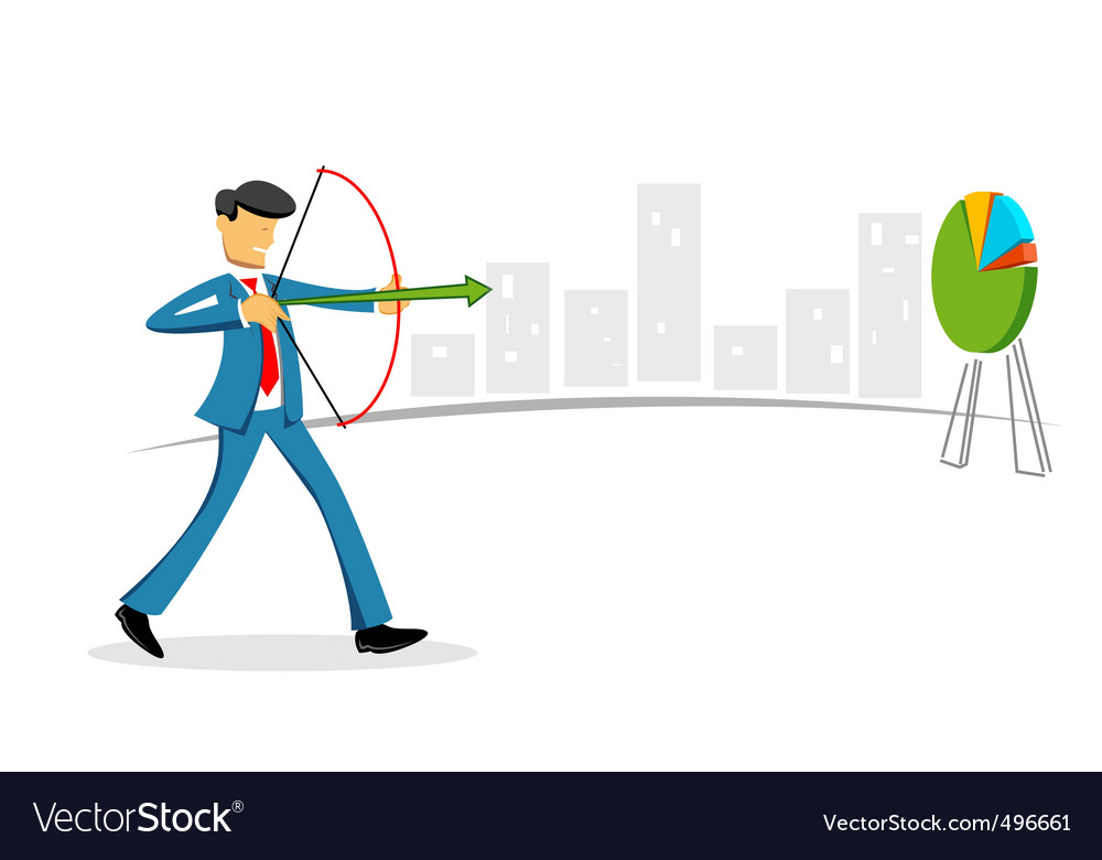 Businessman targeting vector | Price: 1 Credit (USD $1)
