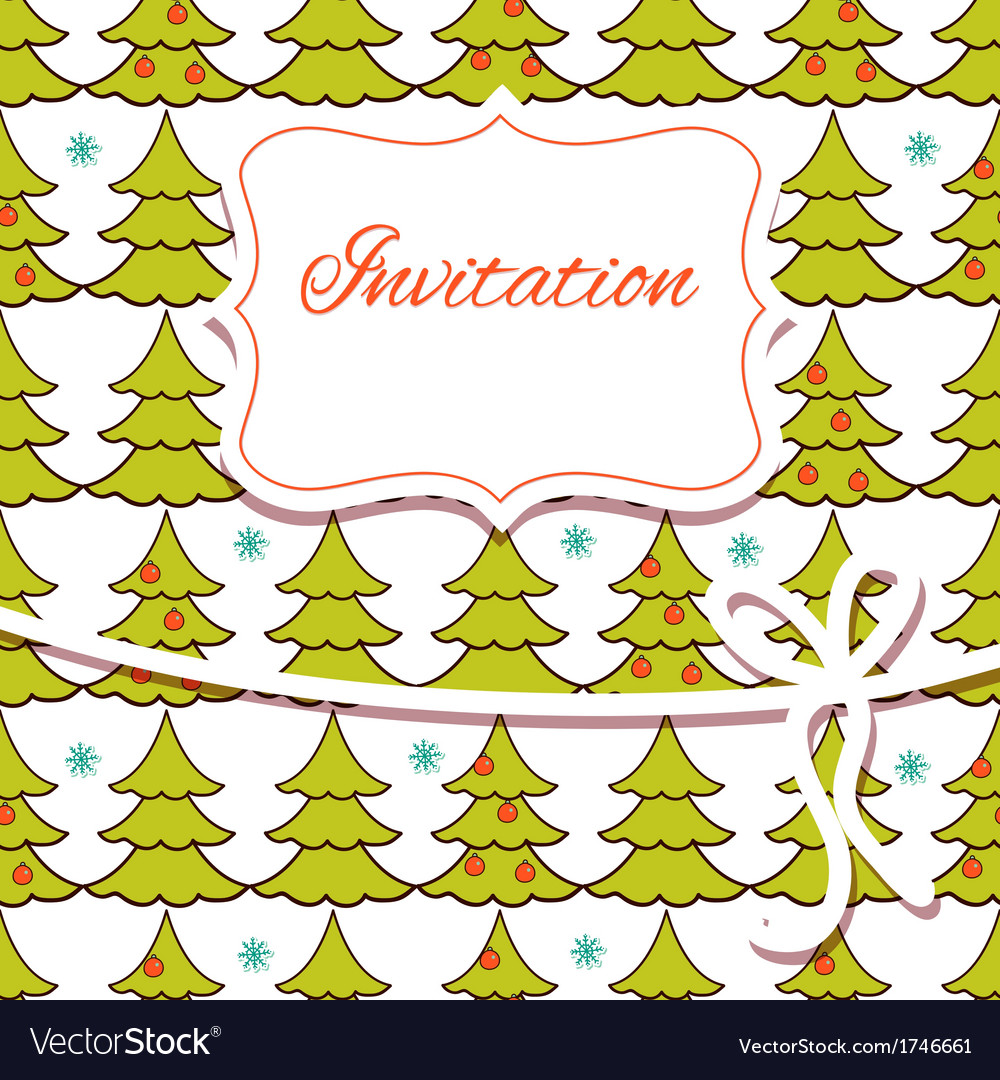 Christmas invitation card vector | Price: 1 Credit (USD $1)