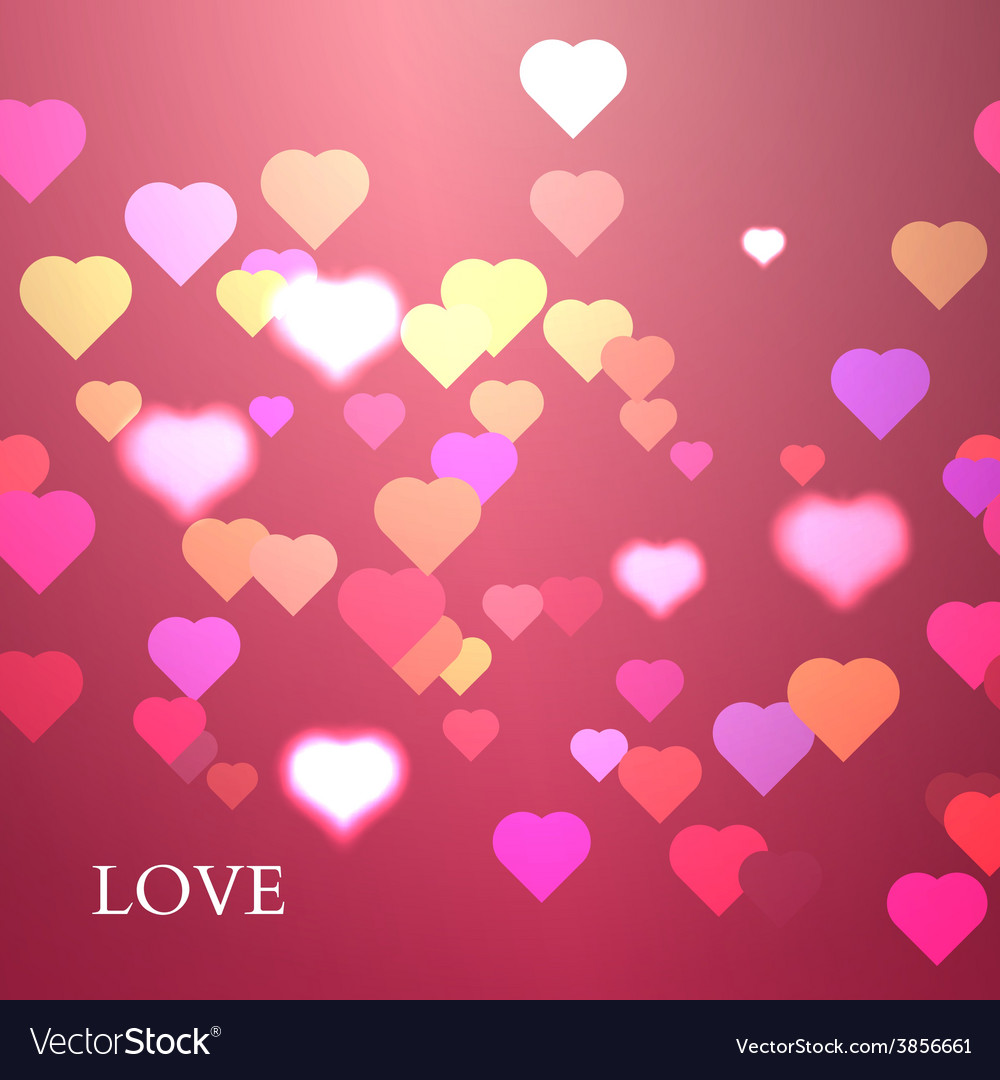 Colorful hearts background valentine vector | Price: 1 Credit (USD $1)