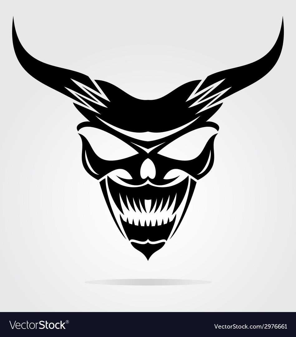 Demon mask vector | Price: 1 Credit (USD $1)