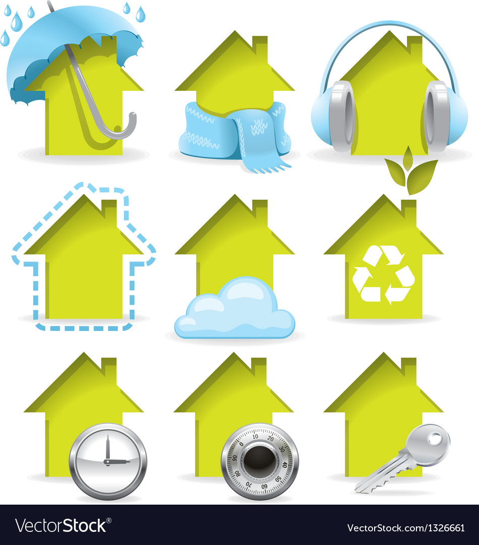 Housing icons vector | Price: 3 Credit (USD $3)