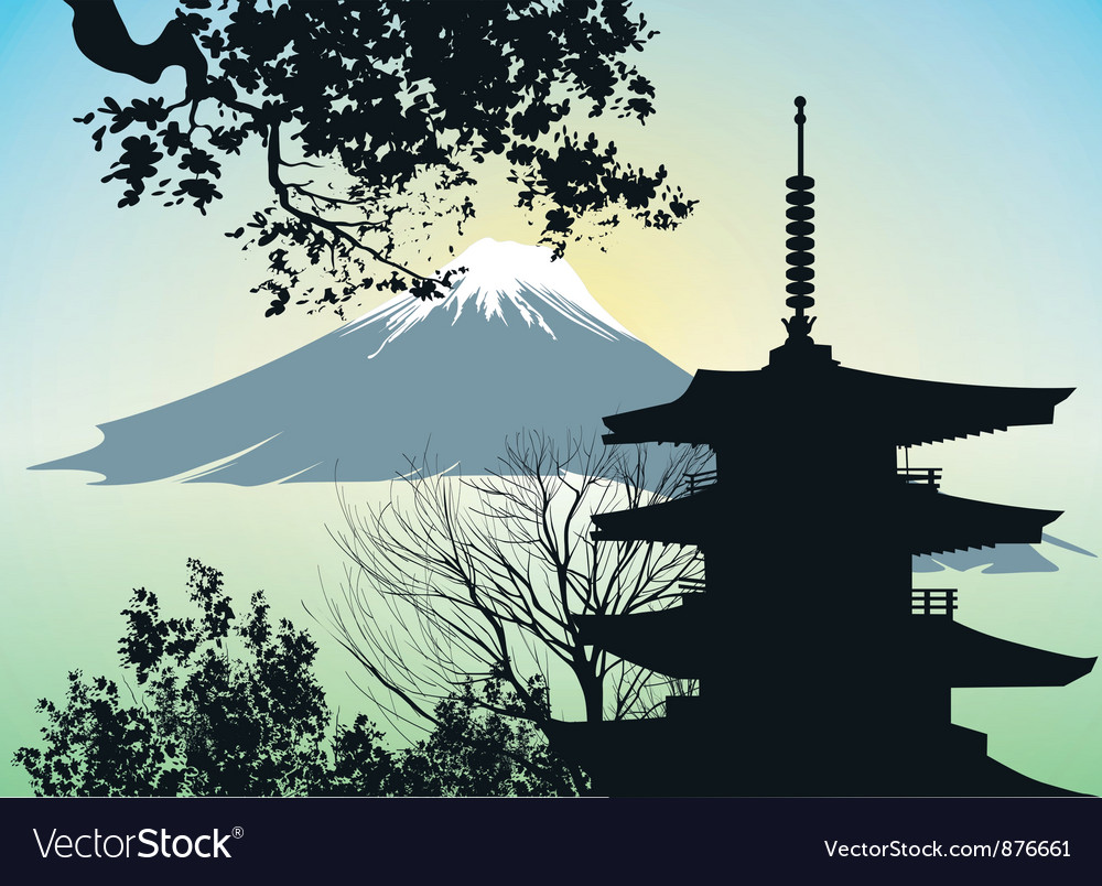 Japanese gate torii vector | Price: 1 Credit (USD $1)