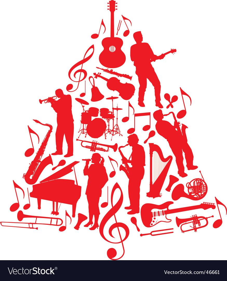 Music christmas tree vector   Price: 1 Credit (USD $1)