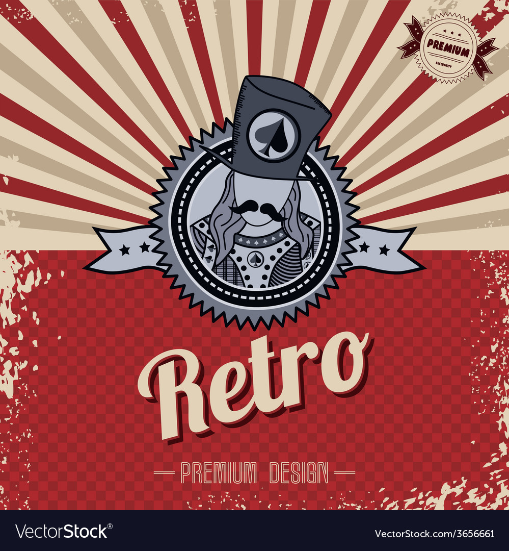 Retro page theme template vector | Price: 1 Credit (USD $1)