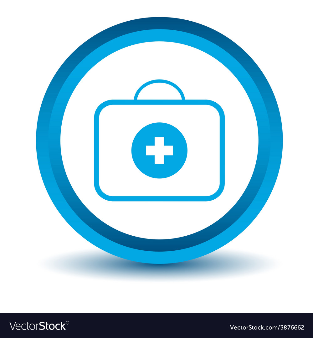 Blue doctor bag icon vector | Price: 1 Credit (USD $1)