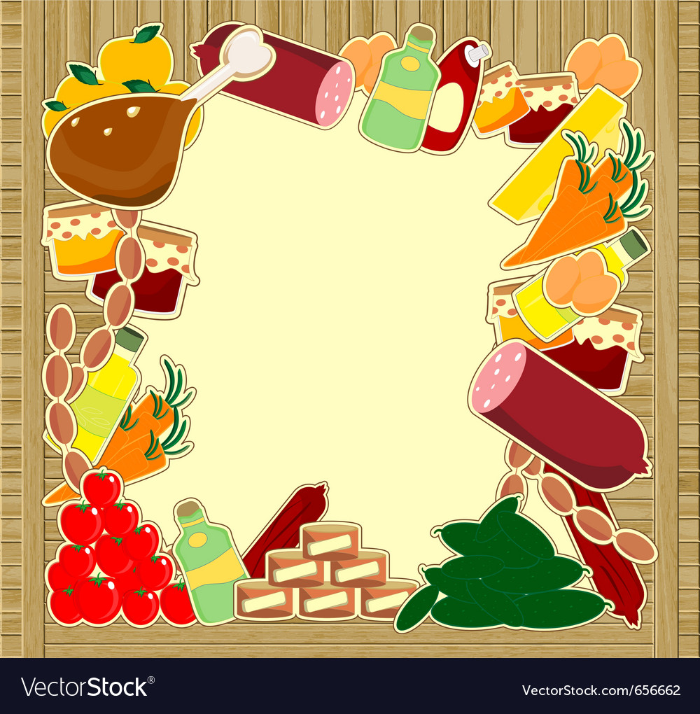 Food frame vector | Price: 1 Credit (USD $1)