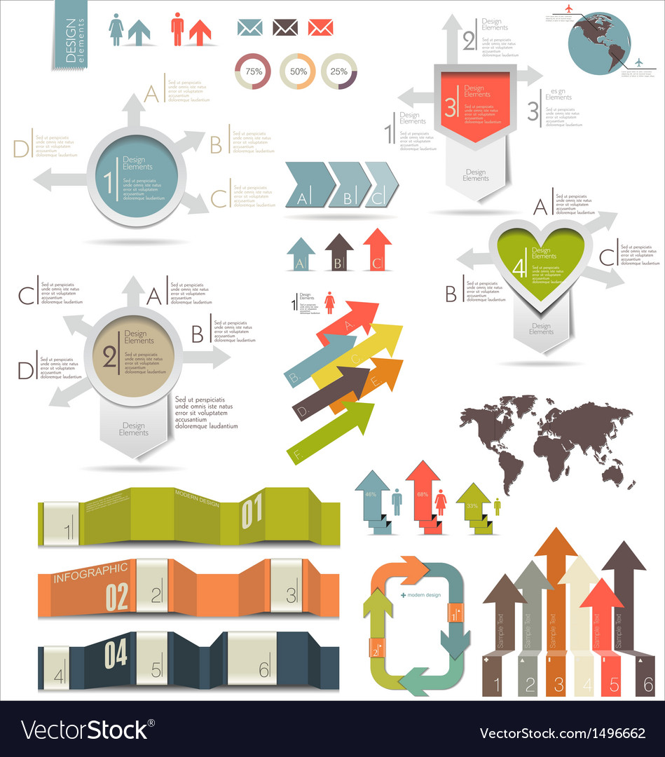 Infographics modern design vector | Price: 3 Credit (USD $3)