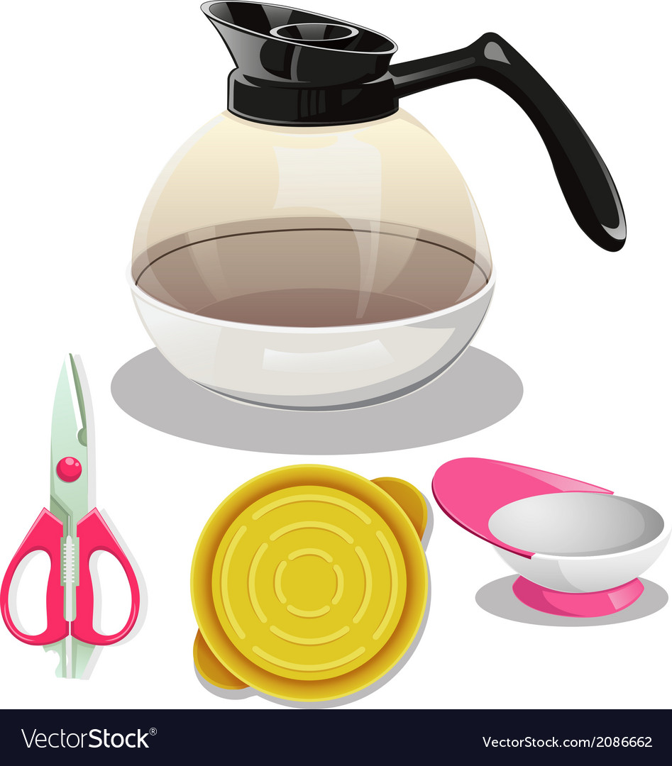 Kitchen equipment set large vector | Price: 1 Credit (USD $1)