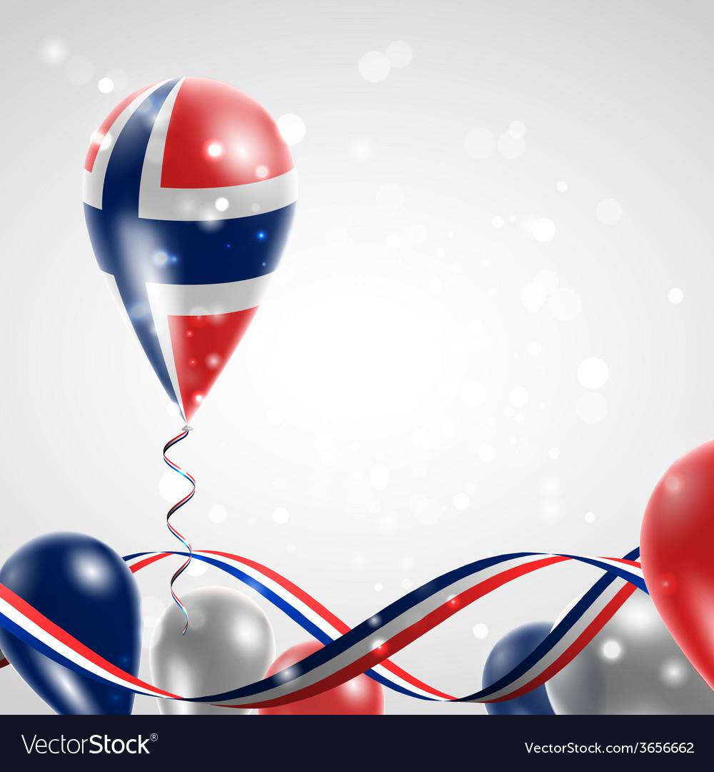 Norwegian flag on balloon vector | Price: 1 Credit (USD $1)