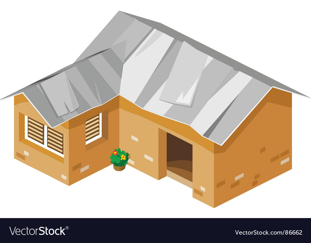 Poor house vector | Price: 1 Credit (USD $1)
