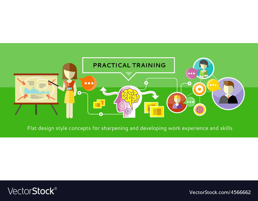 Practical training concept vector | Price: 1 Credit (USD $1)