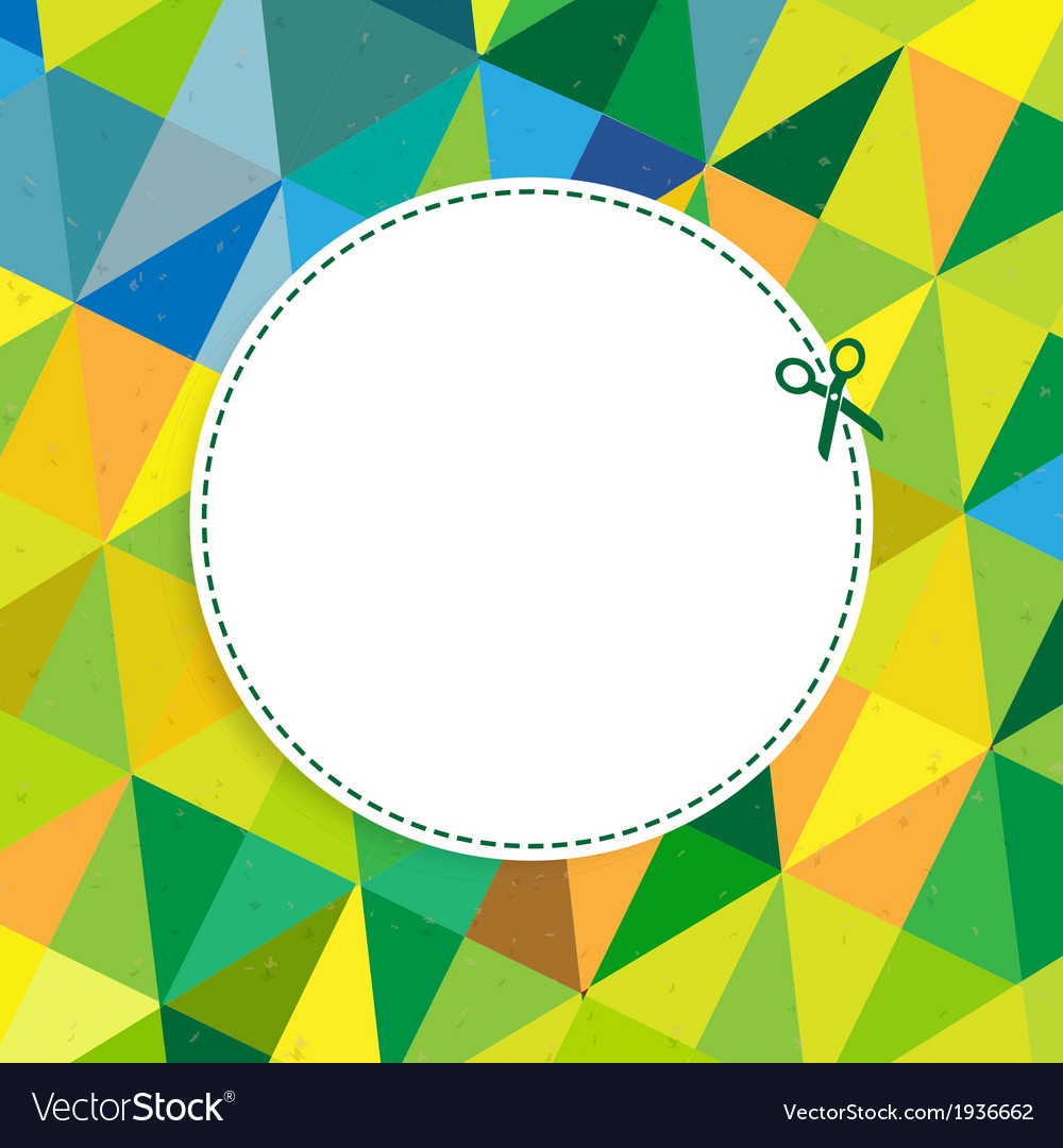 Retro color background with coupon vector | Price: 1 Credit (USD $1)