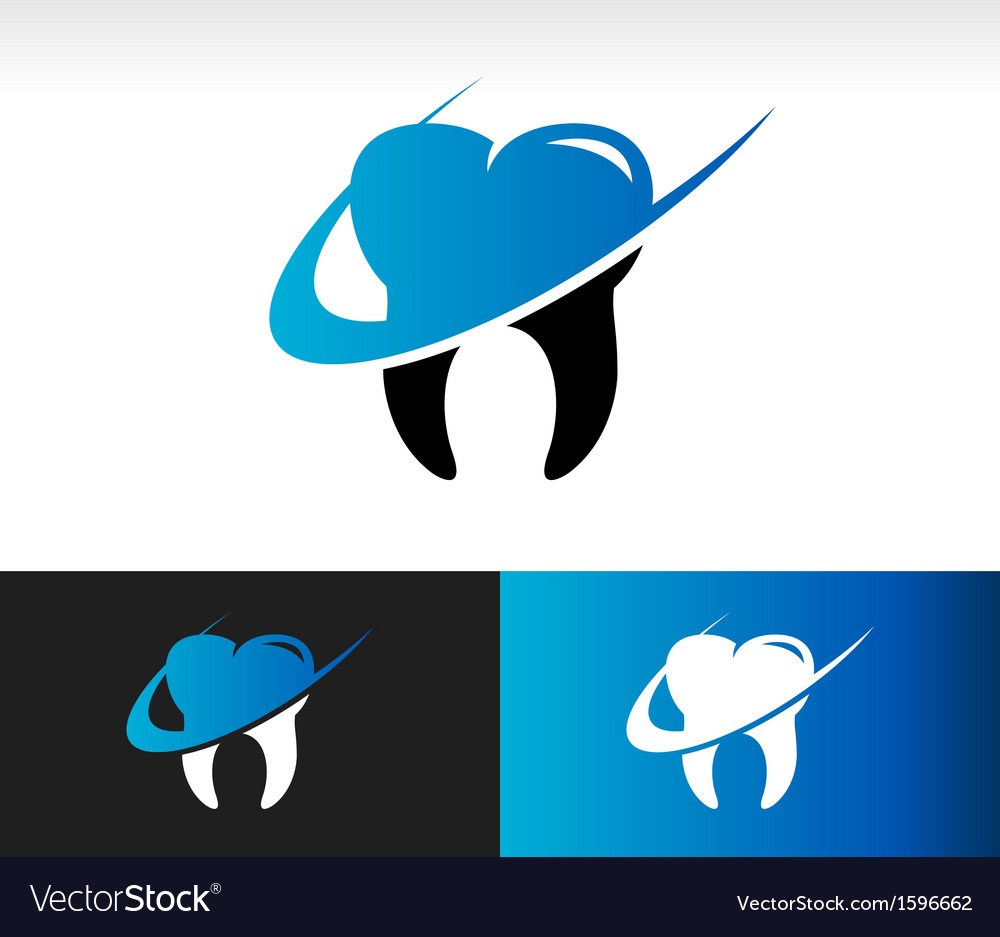 Swoosh dental care icon vector | Price: 1 Credit (USD $1)