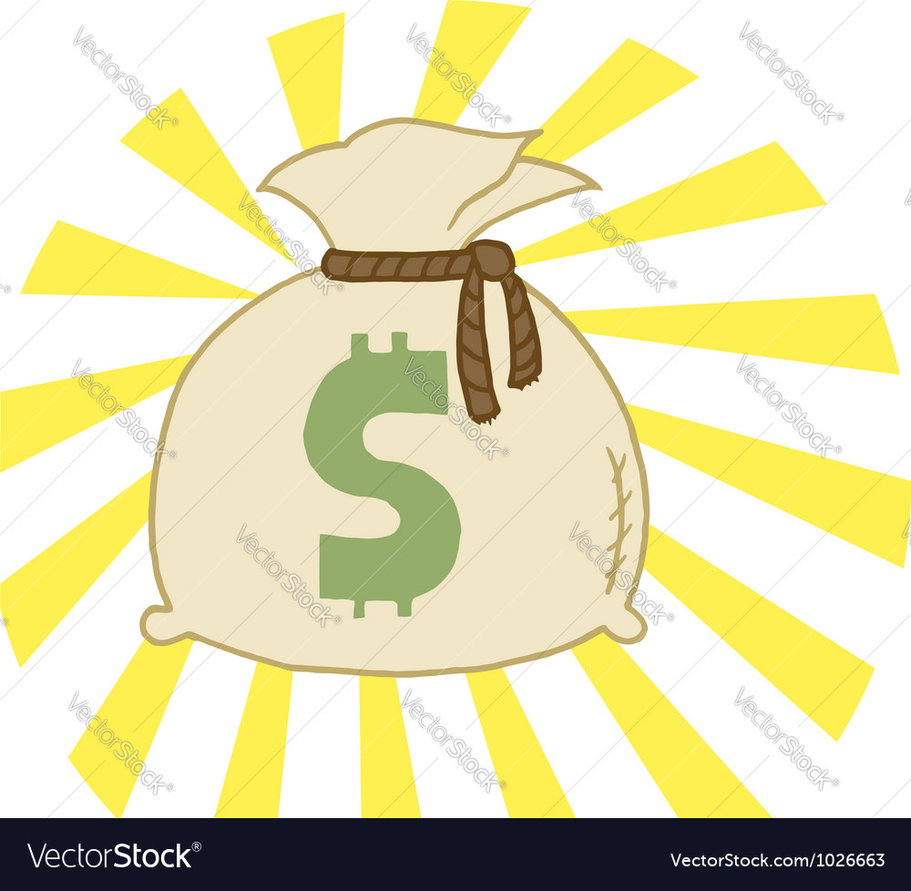 Bag of cash vector | Price: 1 Credit (USD $1)