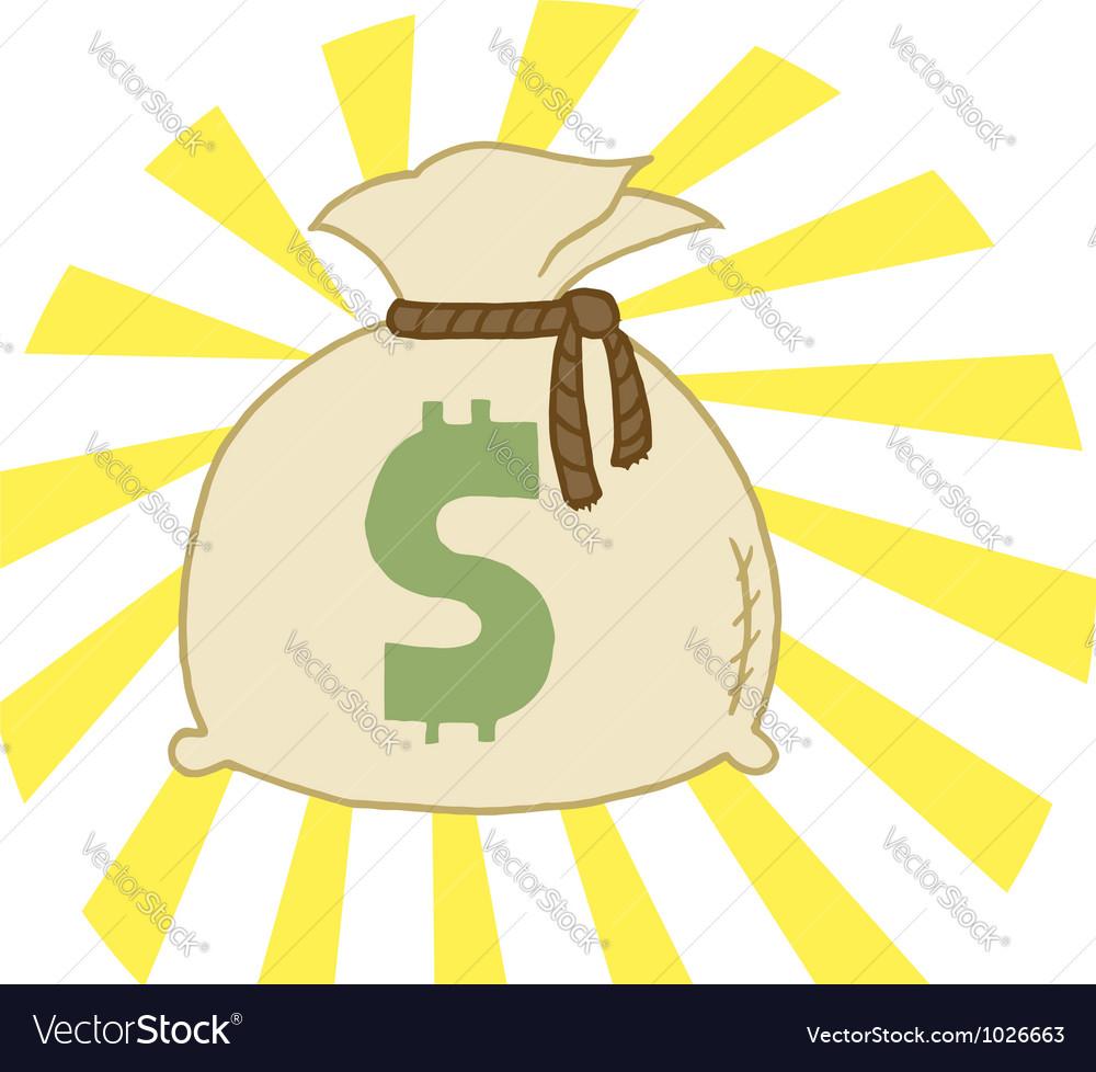 Bag of cash vector | Price: 1 Credit (USD $1)