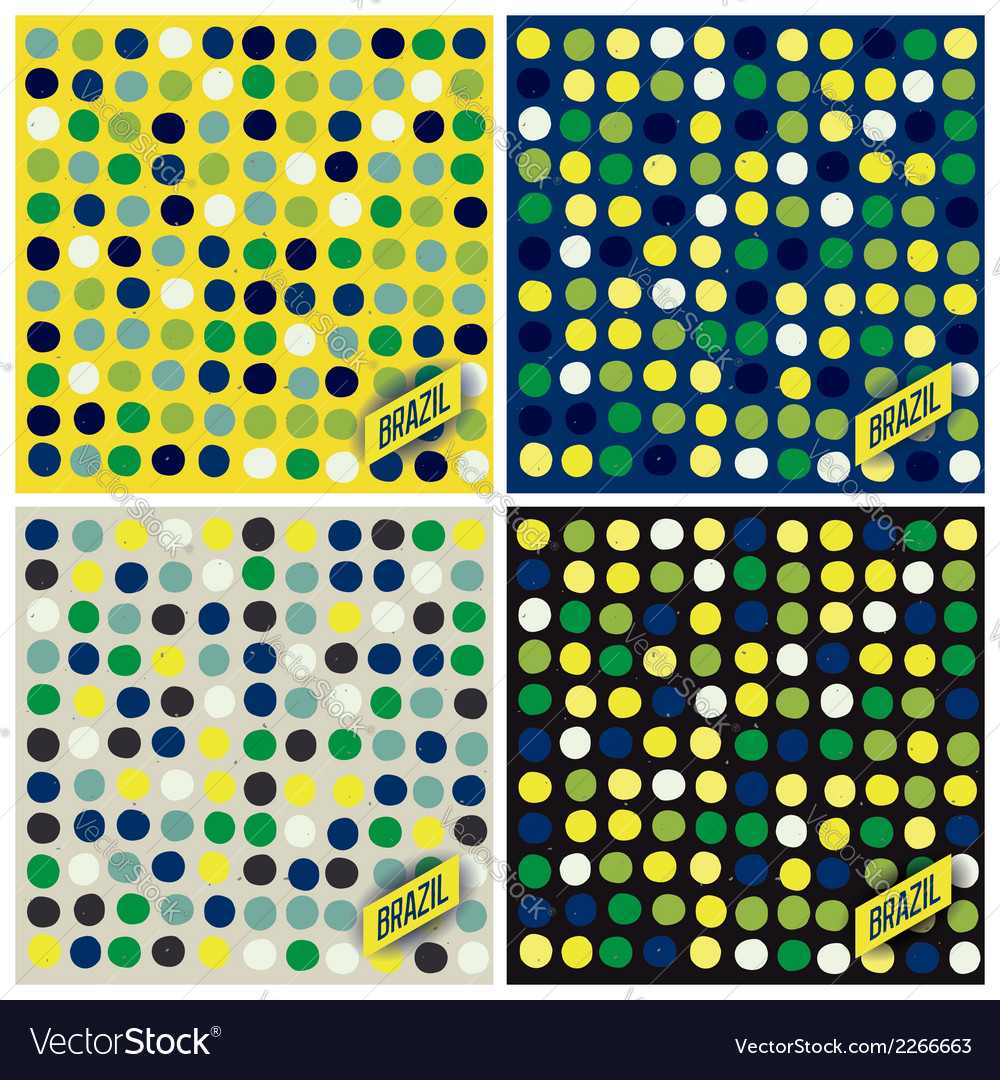 Brazil spots pattern background vector   Price: 1 Credit (USD $1)