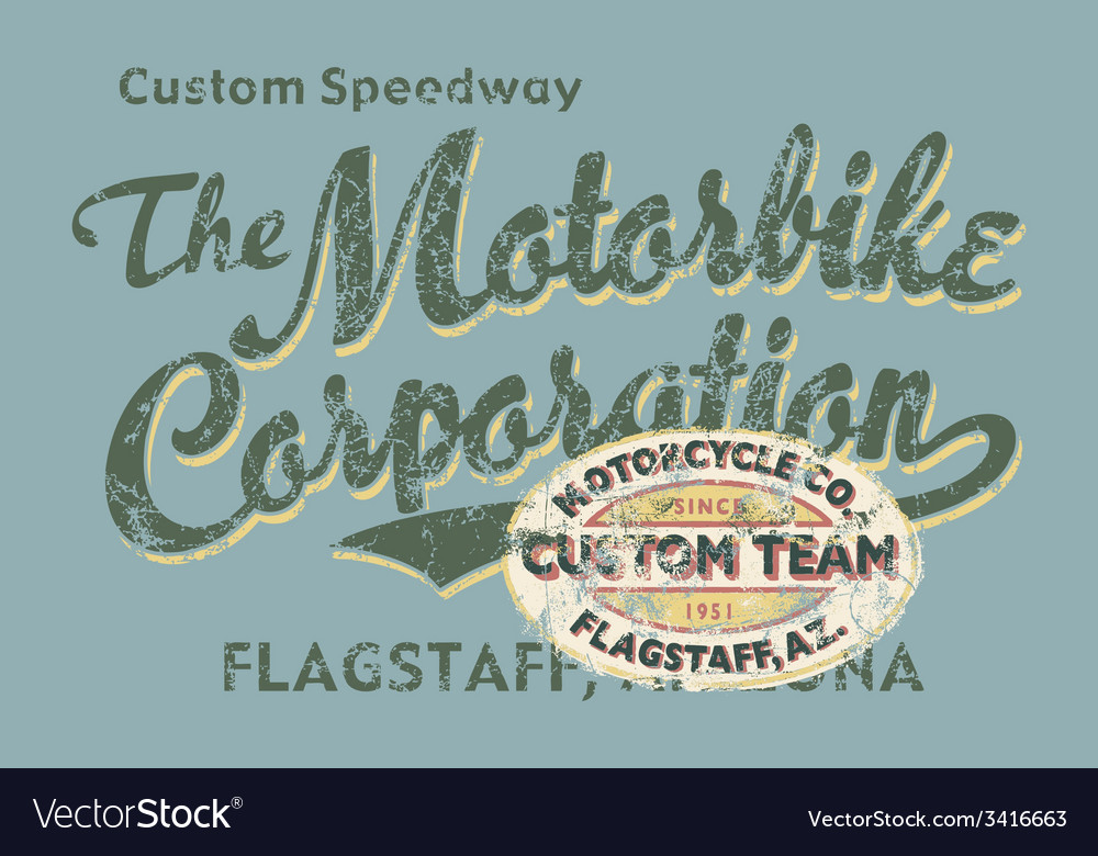Custom motorbike corporation vector | Price: 1 Credit (USD $1)